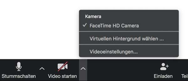 Einstellungen Kamera